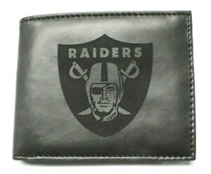 Raiders NFL Laser Etched Billfold - Black - New