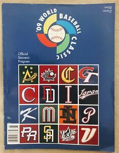 2009 WORLD BASEBALL CLASSIC SOUVENIR PROGRAM