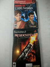 Resident Evil: Code Veronica and Outbreak Playstation 2 PS2 Capcom Complete