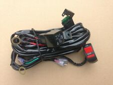 NEW UNIVERSAL MOTORCYCLE SPOT / FOG LIGHT WIRING LOOM HARNESS KIT RELAY SWITCH