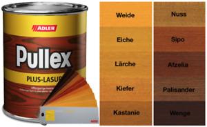 Adler Pullex Plus Lasur Holzschutzlasur - 750 ml / 2,5 L / 5,0 L / 20,0 L