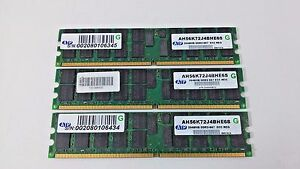 ATP 3 x2GB DDR SDRAM PC Memory Card MIX 6GB AH56K72J4BHE6S 2048MB DDR2-667 ECC