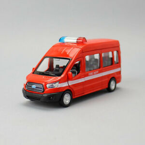 1:52 2015 Ford Transit MPV Fire Vehicle Model Car Diecast Toy Gift Red Kids