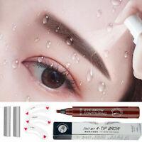 Microblading Eyebrow Tattoo Pencil Waterproof Fork Tip Sketch Makeup Ink Pen.
