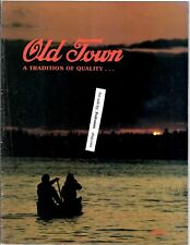 1986 Old Town Canoe And Boat Color Catalog Maine Company, Canoes Boats Original