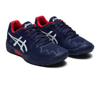 Asics Boys Gel-Resolution 8 GS Court Shoes - Navy Blue Sports Tennis Breathable