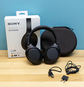 Sony WH-1000XM4 Wireless Noise Cancelling Headphones - Black