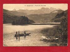 Obwalden Sarnen Lungernsee Partie bei der Insel 1913 Edition Wagner Lungern AK