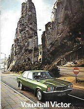 VAUXHALL VICTOR SALES BROCHURE  AUGUST 1972 FOR 1973 MODEL YEAR
