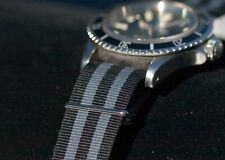 Long watch strap 20mm wide nylon band known as the Classic James Bond 20mm
