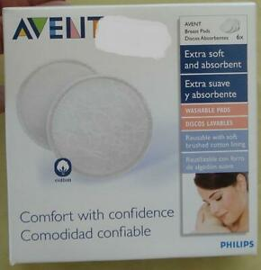 Avent Breast Pads - BRAND NEW BOX OF 6 PADS - EXTRA SOFT & ABSORBANT - COMFORT