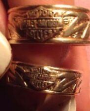 SOLID 10K YELLOW GOLD TRIBAL HARLEY DAVIDSON Wedding Set RINGS Mens 9.75 W 6.75