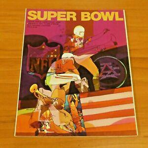 Super Bowl IV 1970 Kansas City Chiefs vs Minnesota Vikings Program Very Clean