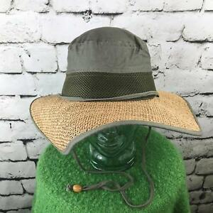 Scala Collection Womens O/S Hat Straw Woven Wide Brim Explorer Adventure Sun Cap