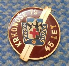 GIANT MOUNTAIN RESCUE TEAM CZECHOSLOVAKIA 45 ANNIVERSARY (1934-1979) PIN BADGE