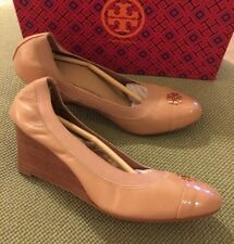 84c86369466c Tory Burch RARE Tory Beige Jolie Wedges w  Box Sz 10 Retail  285 SOLD OUT