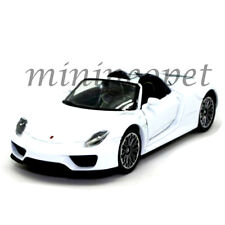 WELLY  18051 CW PORSCHE 918 SPYDER OPEN TOP 1/18 DIECAST MODEL CAR WHITE
