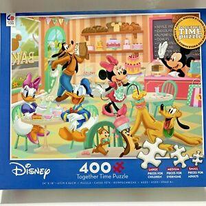 Ceaco Disney Together Time 400 Piece Jigsaw Puzzle Bakery Mickey Minnie Donald