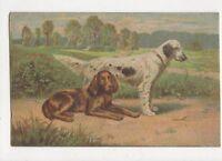 Dogs 1919 Art Postcard Italy 440a