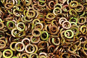 "(300) Alloy 1/2"" Split Lock Washers - Yellow Zinc Plated"