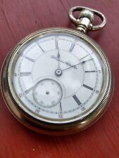 Face 18s Pocket Watch 1902 Running Railroad Grade Hampden Dueber Grand 17j Open