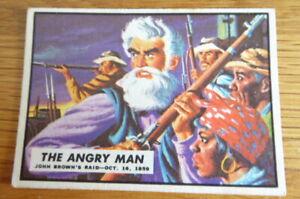 A&BC GUM CARD CIVIL WAR NEWS #1 THE ANGRY MAN 1965 VG-EXCELLENT