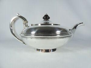 Antique Georgian 1836 Sterling Silver Teapot Squat Joseph John Angell London