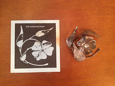Vintage 1979 Signed Ed Gray Metal Sculpture / Ornament The Christmas Rose 51/300