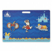 Disney Minnie Mouse The Main Attraction Dumbo Flying Elephant Pin Set In Hand