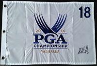BUBBA WATSON SIGNED VALHALLA 2014 PGA CHAMPIONSHIP GOLF FLAG MASTERS PROOF J4