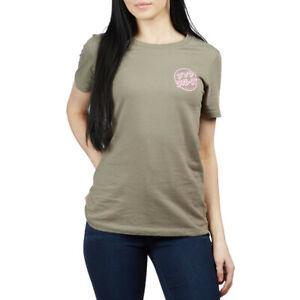 SANTA CRUZ Women's S/S T-Shirt JAPANESE BLOSSOM - Grey - Large - NWT