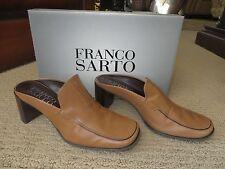 "Women's Franco Sarto Camel/Calf L-Tono Leather Closed Toes 2 3/4""Mules 6.5M MIB"