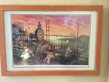 "KEN SHOTWELL SERIOLITHOGRAPH  IN COLOR ON PAPER ""SUNSET IN SAN FRANCISCO""  COA"