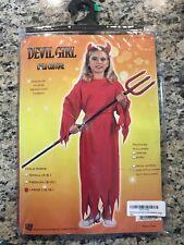 Halloween RG Costumes Devil Girls Costume Dress Sash Child Large L Size 12-14