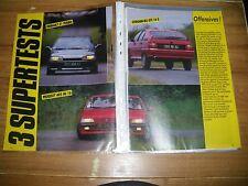 3 SUPER TEST...CITROËN BX GTI 16 S vs PEUGEOT 405 Mi 16 vs R 21 TURBO.....