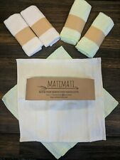 Baby Washcloths Bamboo Extra Soft Absorbent Premium Towels 6 Pack MatiMati