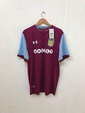 Aston Villa Men's Under Armour 2017/18 Home Shirt - Various Sizes - No Name -New
