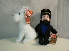 Ty Captain Haddock and Snowy Beanie Babies Plush Set of 2 Adventures of Tintin