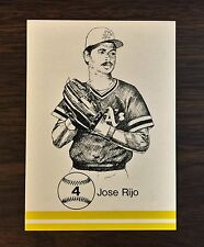 1986 Big Apple Card Co JOSE RIJO #4 Limited and Scarce GLOSSY Card