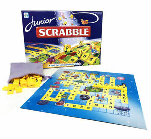 Junior Scrabble Game Family Party Board Game Kids Educational Toy AU Stock