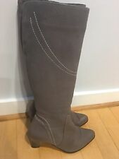 Gianni Italian Leather Boots Gray, Size 39/8.5 SALE!!!