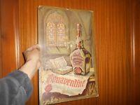 Ancienne Affiche Publicitaire Cartonnée Liqueur de France Bonaventine publicité