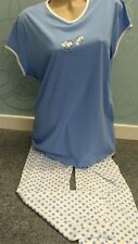 """Sweet Blue """"Bee"""" Capped sleeve spotted jersey cotton pyjamas size  L ( 16-18 )"""