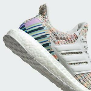 ADIDAS ULTRA BOOST F34079 Crystal WHITE MULTIColor Glow Green Women's US 7 Shoes