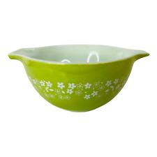 441 Cinderella Nesting Mixing Bowl Pyrex Spring Blossom Green White Crazy Daisy