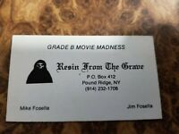 Resin From The Grave - Mike Fosella  Jim Fosella Vintage Original Business Card