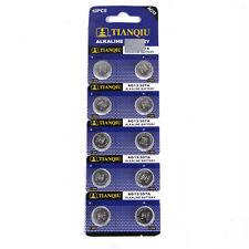 10Pc Alkaline Batteries Lasting Button Cells AG13 LR44 SR44 L1154 357 A76 Hot