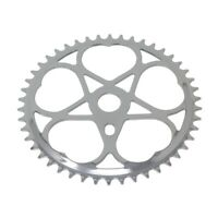 BICYCLE CHAINRING  JS-S 46t 1/2 X 3/32 Chrome LOWRIDER CRUISER BIKE