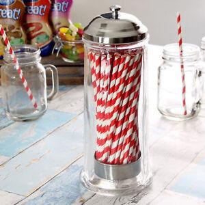 Straw Dispenser   Retro Straw Dispenser, Vintage Straw Dispenser Holder Plastic