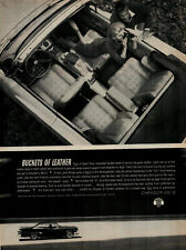 1961 Chrysler 300 Buckets of Leather Women with Camera Vintage Print Ad 1969